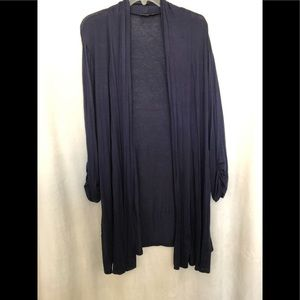 Sweaters - NWOT Navy Blue Cardigan Long Plus Size